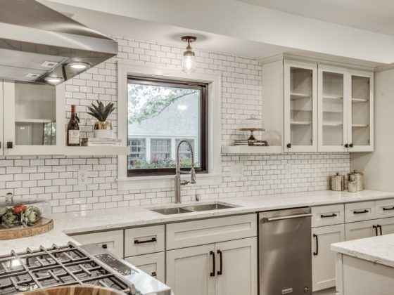 kitchen with subway tile in St. Paul